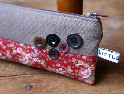 Button Down the Roses Pencil Case - Donated by little minx