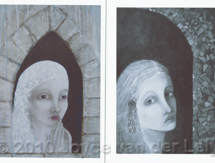 Set of two canvas cards with envelopes - Donated by joyces-art