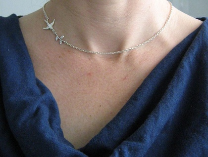 Little Bird and Twig Necklace - Donated by one trick pony