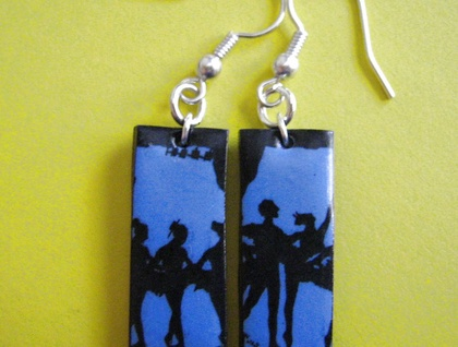 Blue Ballerina Earrings - Donated by one trick pony