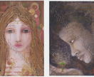 Set of two canvas ArT cards with envelopes -Donated by Joyces Art