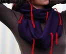Navy vintage wool jersey scarf - Donated by Marian Smale