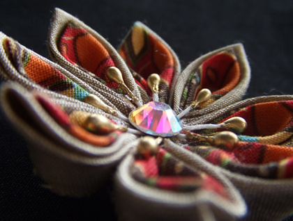 Handmade Kanzashi Brooch - Donated by natasya