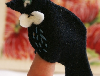 Tui finger puppet card - Donated by speers