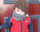 "The ""Mugsy"" Muffler - Knit Unisex Toddler/Child Buttoned Muffler PDF PATTERN ONLY - Donated by AmiAna"