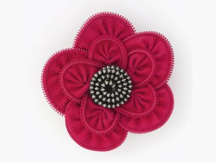 Red/Black Canterbury Flower Brooch - Donated by zippitydoodah