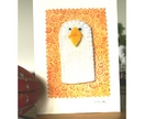Easter chick finger puppet card - Donated by speers
