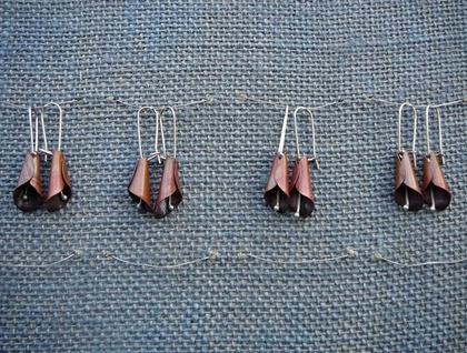 Lily Earrings - Donated by Copper-Red