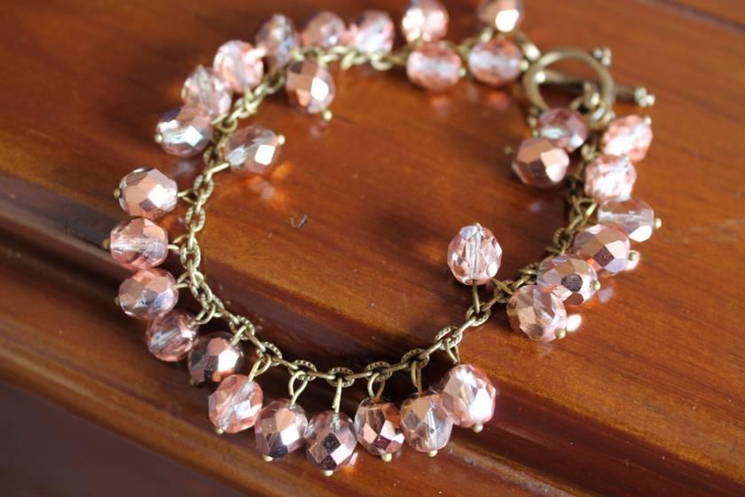 Apollo Gold Czech Bead Bracelet