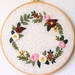 "Embroidery full kit ""Delightful Flora"". A great modern embroidery kit to begin."