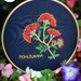 "Embroidery full kit ""Glorious Pohutukawa"""