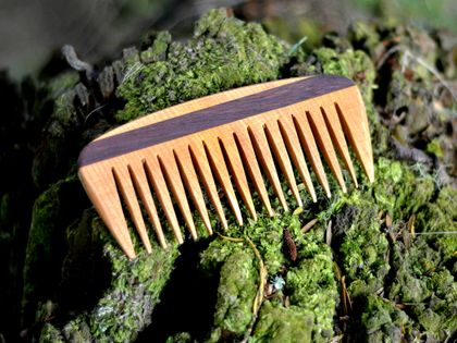 Handcrafted wooden comb - Kauri and jarrah