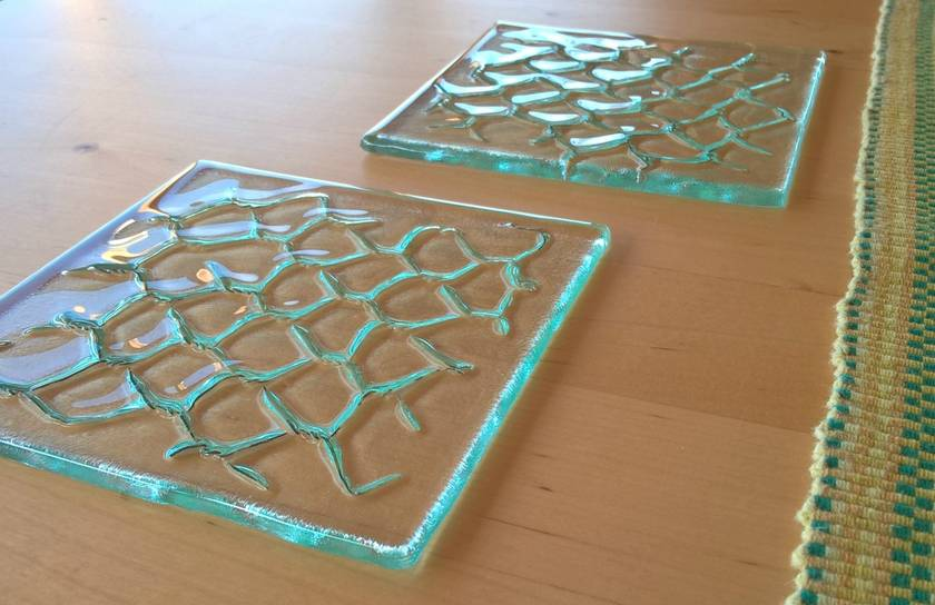 Glass coasters (pair)