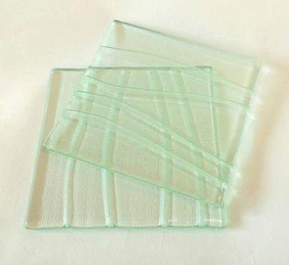Glass coasters (pair)