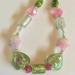 Necklace: Boho Hearts Flowers Bouquet