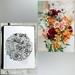 Wedding Flower Ink Artwork Commission