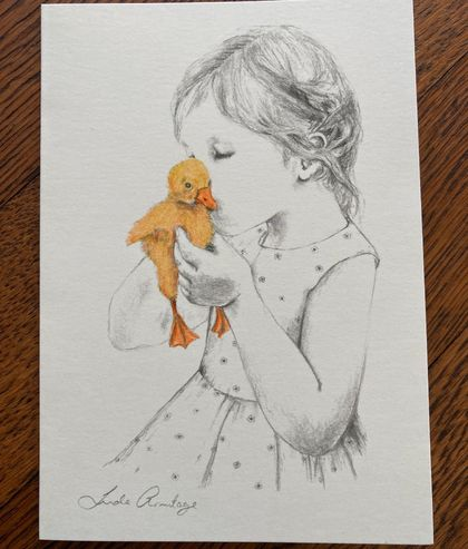 Lovely Original Hand Drawn Gift Card