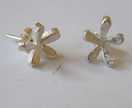 Sterling silver handmade flores studs