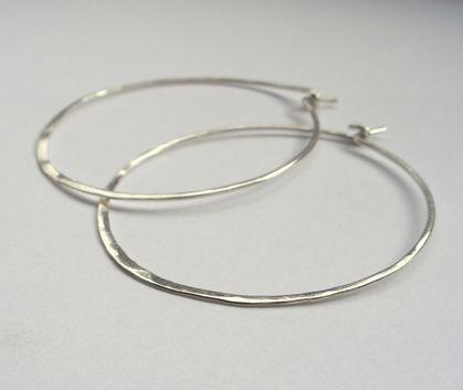 Selection of simple silver hoop earrings