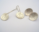 Silver Dotty Round drop earrings and studs