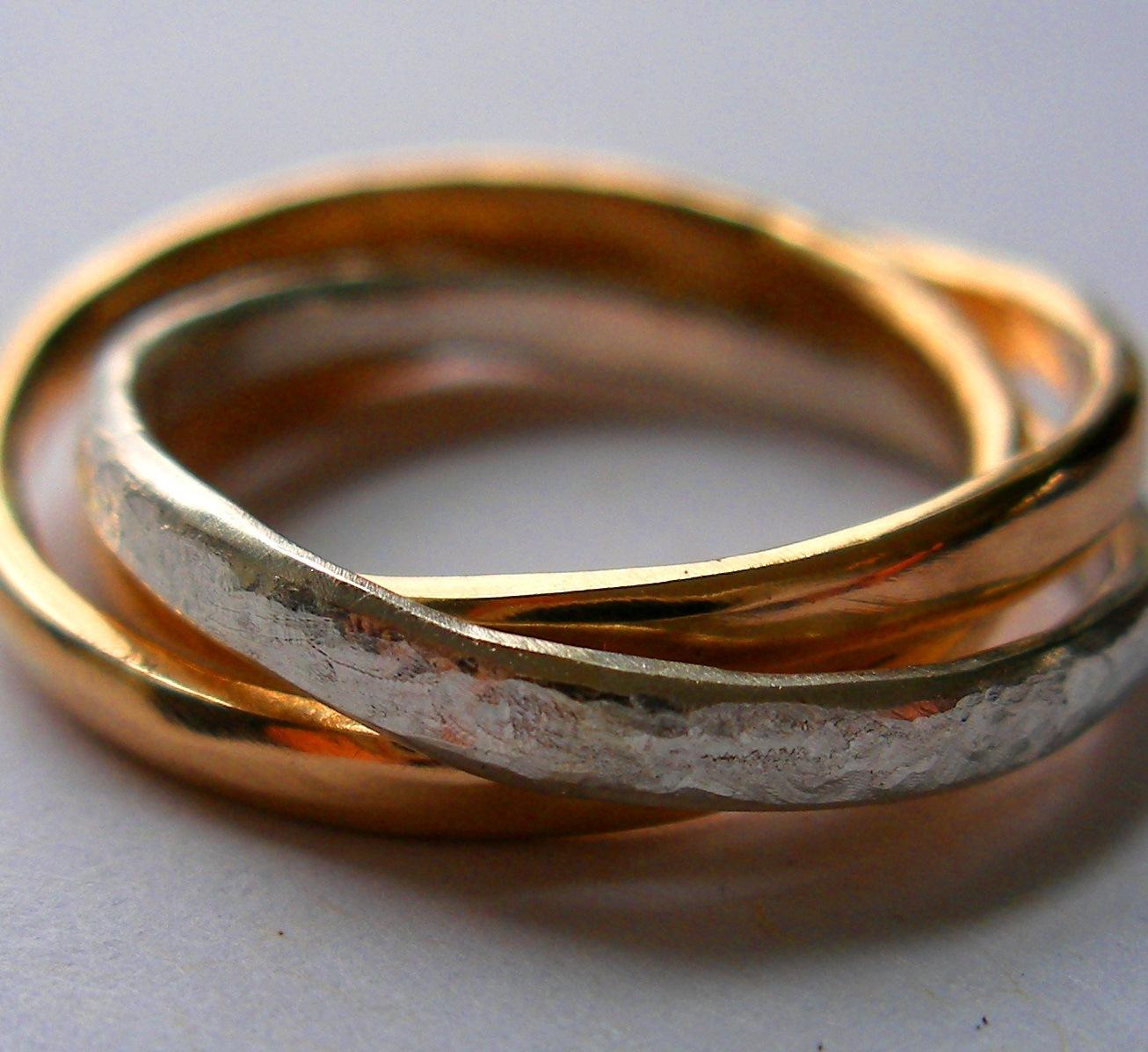Interlocking Russian Wedding Rings
