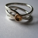 Spiral gold and silver dish ring
