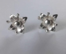 Sterling silver handmade flower studs with stamens
