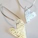 Little silver heart earrings