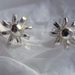 Sterling silver daisy studs