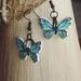 Wooden flutterby earrings