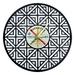 Geometric Pattern Vinyl Record Clock