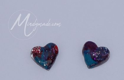 *SPECIAL PRICE* Heart resin stud earrings