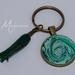 Handmade resin and acrylic keyring