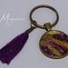 Handmade resin pendant keyring