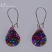 Purple bead resin earrings