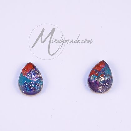 Multicolour resin gem studs *FREE SHIPPING*