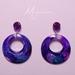 Stunning purple resin earrings