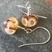 Glass bubble flower earrings - Caramel