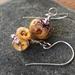 Glass bubble flower earrings - Toffee