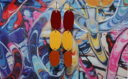 Triple Drops - Burnt Red/Gold/Orange