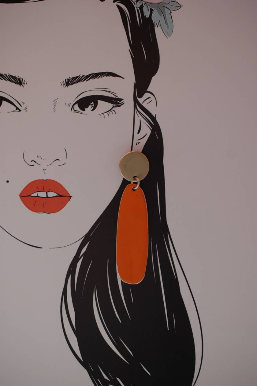 Dot Drops - Sand and Orange