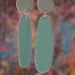 Dot Drops - Light Grey and Light Turquoise