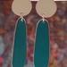 Teardrops - Ivory/Dark Turquoise