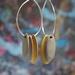 Hoops and Drops Earrings -Mustard/Light Grey/Sand