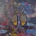 Lou Drops - Pigeon Blue/Mustard/Sand