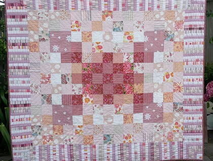 Hand-quilted blanket