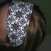 original redflax headband - reversable and 100% upcycled funkyness...
