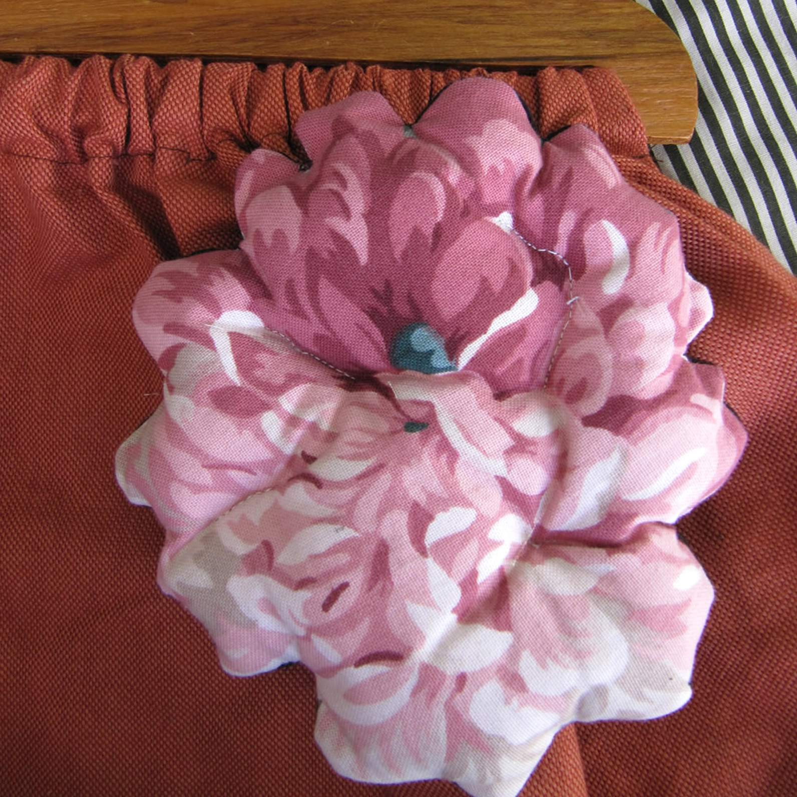 Quilted textile brooch huge pink flower felt huge pink flower next mightylinksfo