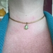 Leather Choker with stone.