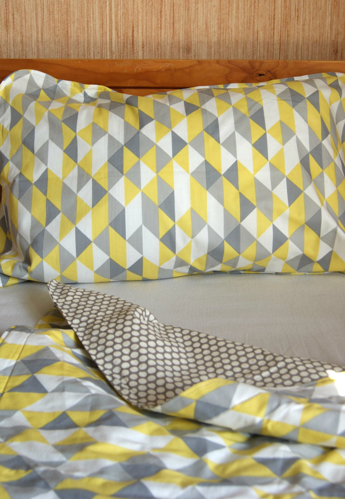 Organic Throw Blanket Or Single Bed Blanket Yellow And